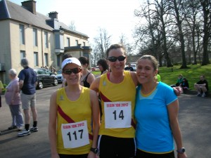roma jackie and sarah at elgin 10k