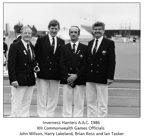 1986 Harriers - CG officials